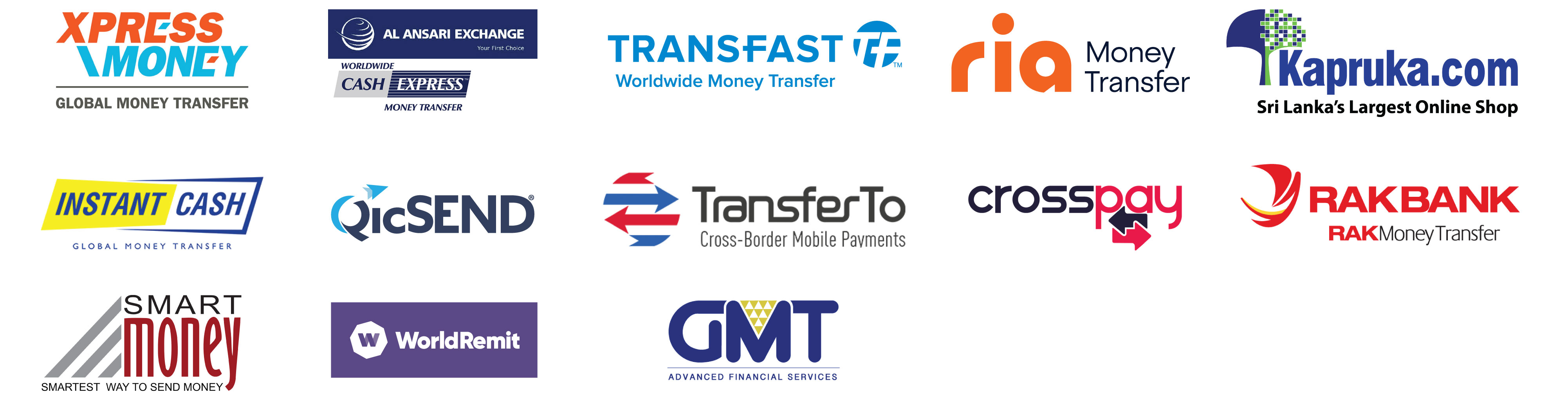 Remittance Agent Logos