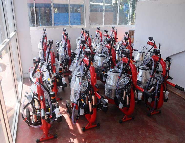 Milking machines given to dairy farmers